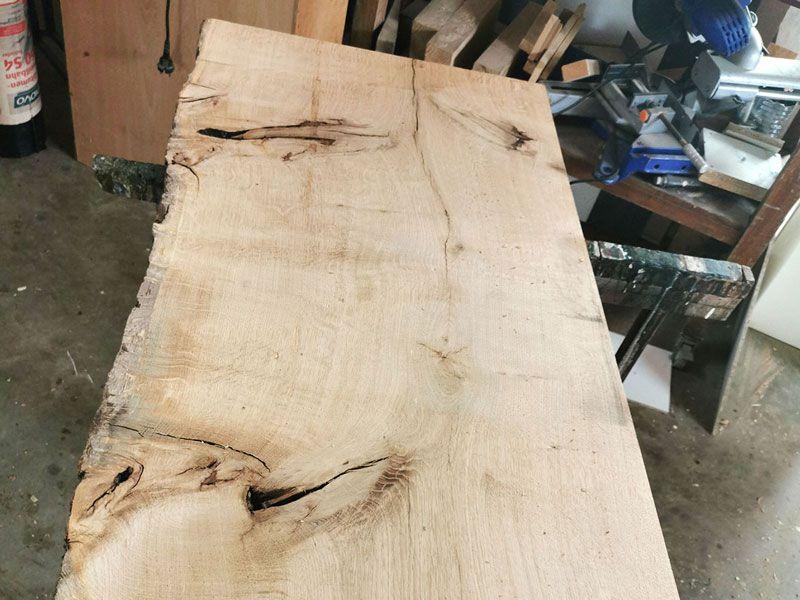 Maserung & Struktur der Holzbohle